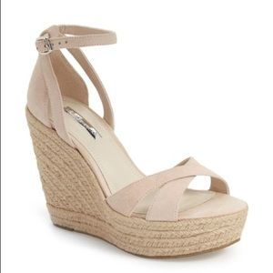 BCBGeneration Holly Platform Wedge Suede Sandal